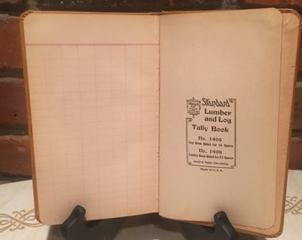 Vintage Journal and or Lumber Log Tally Book