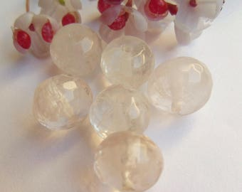set of 4 pucks faceted plastic beads