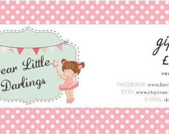 Dear Little Darlings Gift Voucher