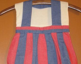 Clothespin Bag Shaped  like a child's Dress, Clothesline Bag
