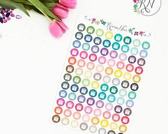 birthday stickers, party sticker, life planner stickers, scrapbook reminder, birthday cupcake, birthday label