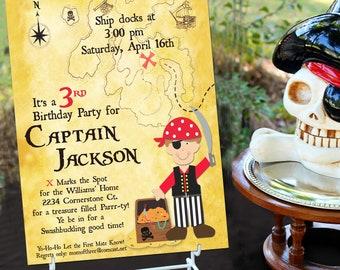 Pirate Party Invitation | Pirate Birthday Invitation | Pirate Party Invite | Pirate Invitation | Boy Birthday | Amanda's Parties To Go