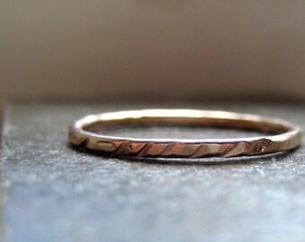 Stacking Ring of 14k Gold