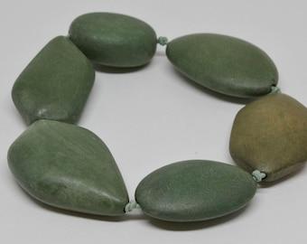 Boho Style Wooden Pebble Looking Bracelet