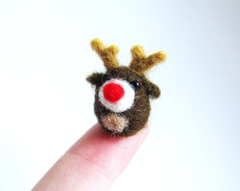 Rudolph needle felted miniature