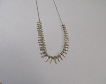 Sterling silver  16 inch necklace with spikes