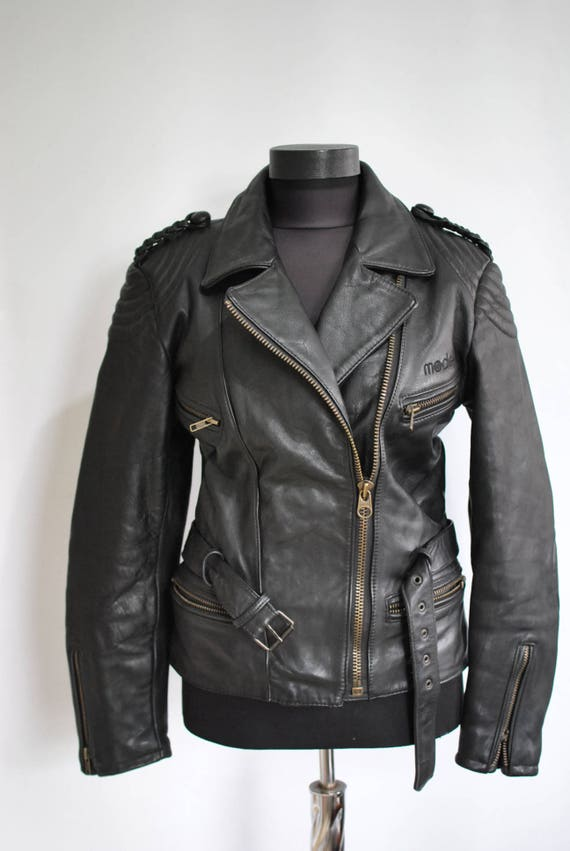 motorcycle LEATHER jacket 089 WOMEN'S jacket vintage Vintage MODEKA HqX8v
