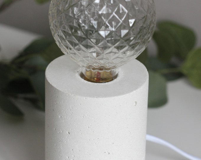 Concrete Cylinder Table Lamp | Concrete Light | Urban | Industrial