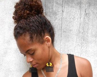 DUAFE (Kette) / / Adinkra / / Afrocentric / / natürliche Holz handbemalt / / Afrika und der Karibik inspiriert Schmuck