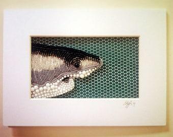 Seed Bead Embroidered Shark