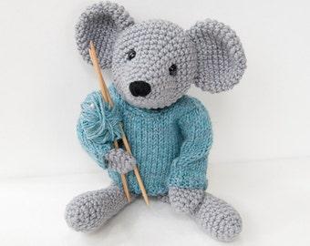 PDF Crochet Pattern - Amigurumi Mouse