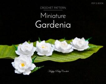 Mini Gardenia Crochet Flower Pattern - Crochet Gardenia Pattern - Crochet Patten for a Small Flower Applique