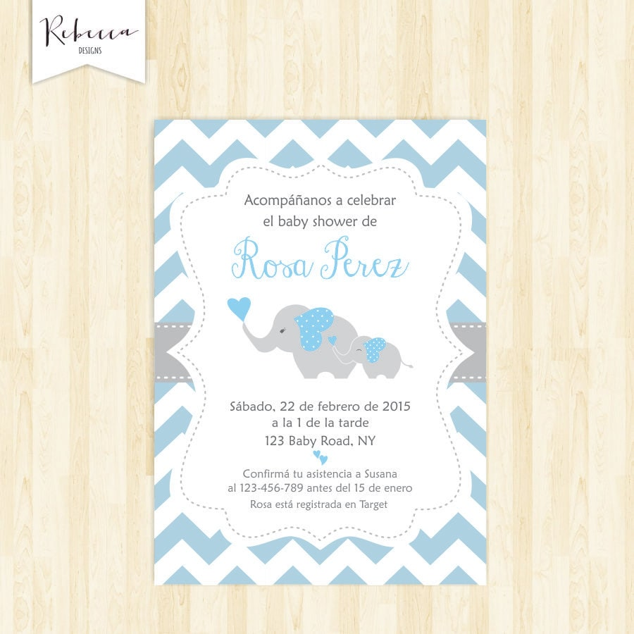 Invitacion baby shower espanol boy baby shower in spanish