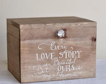 Wedding Card Box Rustic County Barn Love Story Keepsake Box (Item Number MHD20092)