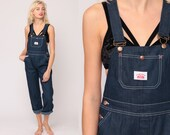 Denim Overalls Pants Round House Jeans 80s Denim Bib Pants Baggy Blue Long Jean Dungarees Hipster Vintage Carpenter Extra Small xs