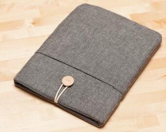 kindle case /  kindle sleeve,  Kindle paperwhite case,  kobo Aura case  / ereader case  - Flannel grey -