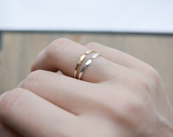 The Horizon Ring >> Open Gold Ring, 14K Gold-Filled Ring, Adjustable Ring, Simple Gold Ring, Delicate Gold Ring, Minimalist Ring, Open Ring