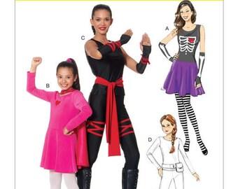 Sewing Pattern for Missesu0027/Girlsu0027 Skeleton Hero Ninja or Fighter Costumes McCalls Pattern M7492 Halloween Matching Mother Daughter  sc 1 st  Etsy & Ninja sewing pattern | Etsy