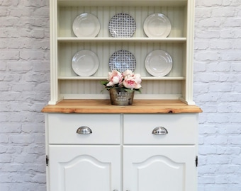 NOW SOLD Stunning Solid Pine Welsh Dresser Professionally Refurbished in Farrow & Ball 'CLUNCH' (No. 2009)