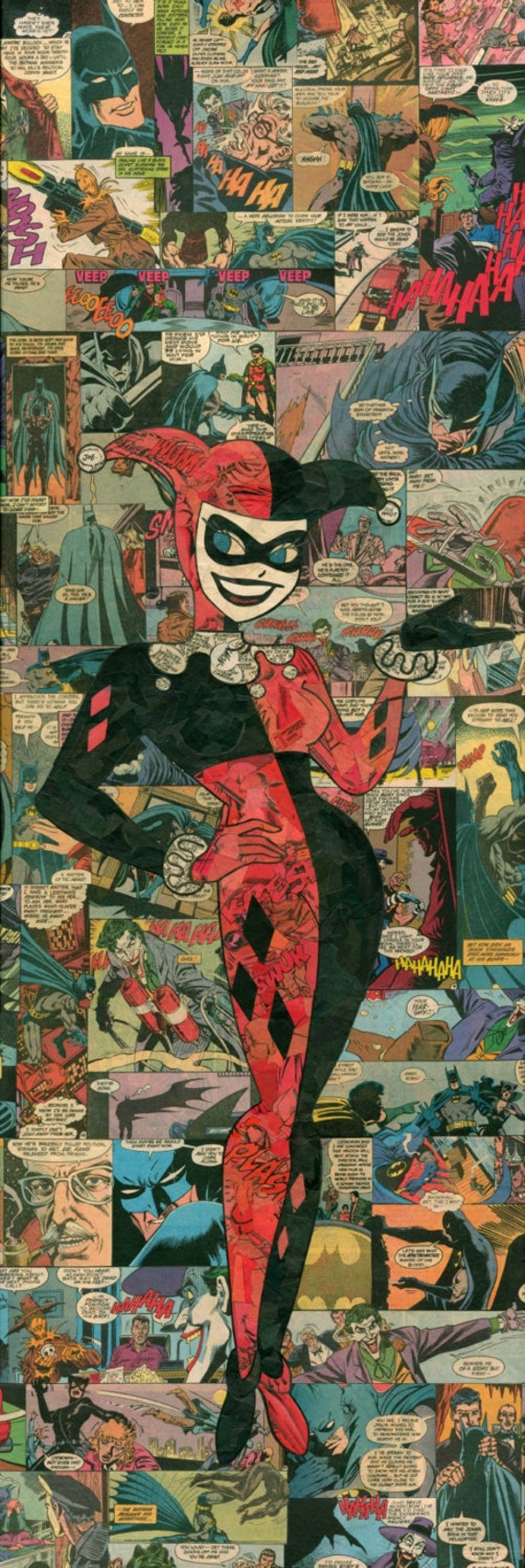 Harley Quinn Comic Collage Giclée-Druck