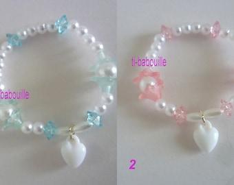 Doll jewelry choice heart Beads Bracelet