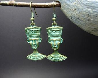 Oxidized metal Egyptian earrings