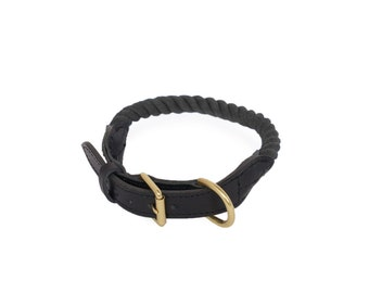 20~30% OFF   -- FINAL SALE --   Rope Dog Collar, Midnight