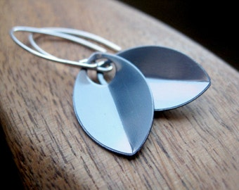 sterling silver earrings. modern jewelry. slate jewellery.