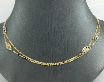 14K Yellow Gold Long Necklace