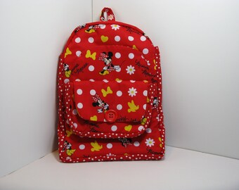 Minnie Mouse in Red Preschool Backpack