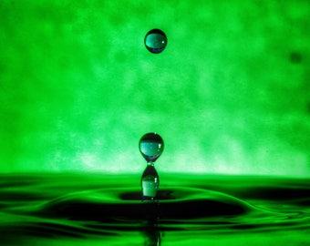 Green Water Drops 2