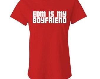 EDM Is My BOYFRIEND - Ladies Babydoll T-shirt