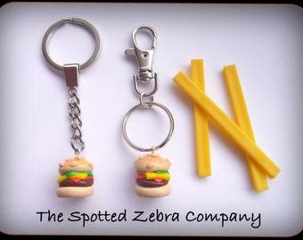 Replica Cheeseburger Keyring