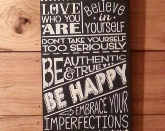 BeYOUtiful Be Happy sign