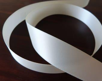 Ribbon satin wide, cream, home decor