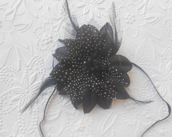 Black Flower  Baby Headband, Newborn Headband,  Infant Headband,Baby Headband, Headband Baby, Baby Headband
