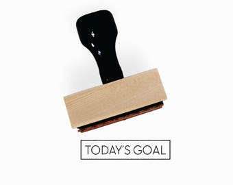 Today's Goal Stamp | Minimal Goal Tracking Journal Stamp | Gift for Planners + Calendars | Wood Mounted Rubber Stamp by Creatiate | BJ1