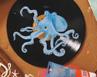 Repurposed Vinyl Octopus
