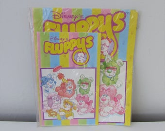 Vintage 1980s Fluppys Notebook and Exercise Book Retro Kitsch