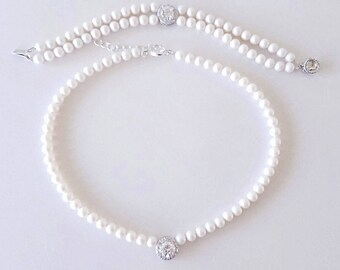 Double Strand Pearl Bracelet Necklace Cocktail Jewelry Best Gift For Her