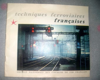 VINTAGE 1958 COLLECTIBLE * SNCF French Railway techniques