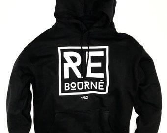 WHITE- ReBourne Logo Hoodie