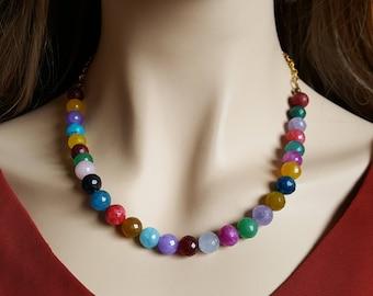 Rainbow Bead Necklace