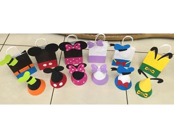 Mickey Mouse Birthday Party Bags and Hats | Mickey Party Bags | Mickey Party Hats | Mickey Favor Bags | Mickey Birthday Party | Mickey Party
