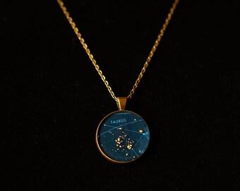 Taurus Zodiac Pendant w 30 inch chain