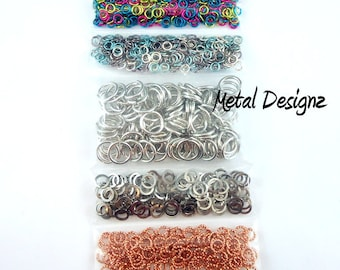 Mixed Metal Chainmail Kit - Over 1000 jump rings for you to experiment with!  All Saw Cut - Made in Canada!