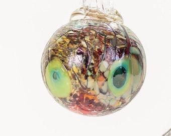 604113 Medium Hand Blown Hanging Art Glass Ball Decorative Ornament