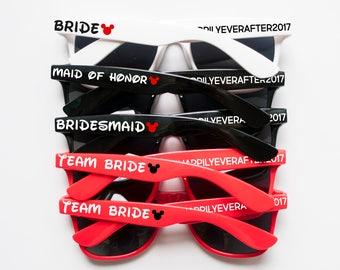 Disney Themed Sunglasses, Disney Wedding, Personalized Sunglasses, Custom Sunglasses, Wedding Sunglasses, Wayfarer Sunglasses