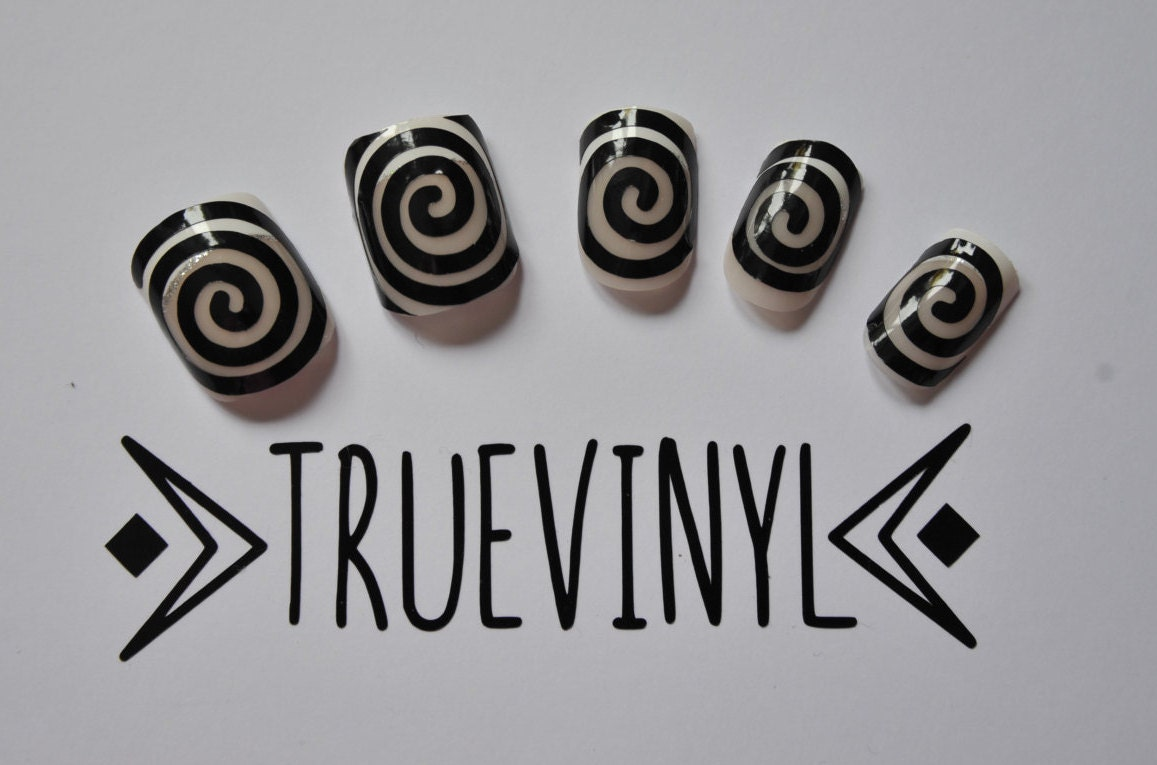 Spiral Nail Vinyl Decal / Sticker / Template Pack of 25