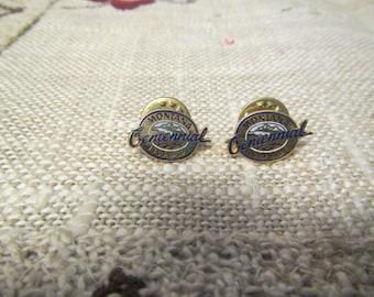 2 vintage 1889 - 1989 MONTANA CENTENNIAL HAT Pins or Lapel pins